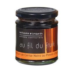 Confiture de Cerise Noire au Piment d'Espelette (220g)
