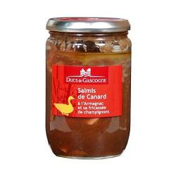 Salmis de Canard à l'Armagnac et sa fricassée de champignons (600g)