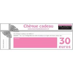 Chèque Cadeau 30 euros