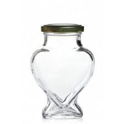 Pot en verre en forme de coeur (380ml)