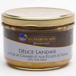 Délice landais au foie gras et aux Éclats de Figues (180g)