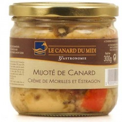 Mijoté de canard crème de morilles et estragon (300g)