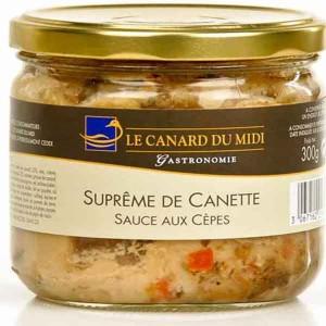 Suprême de canette sauce aux cèpes (300g)