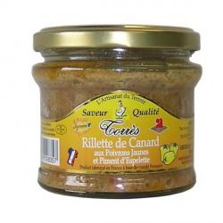 Rillette de canard aux poivrons jaunes (bocal 180g)