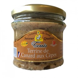Terrine de canard aux cèpes bocal 180g