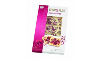Tablette de Chocolat Blanc aux fruits (90g)