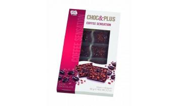 Tablette de Chocolat noir avec morceaux de café (90g)