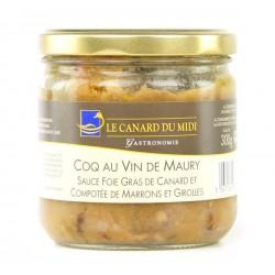 Coq au vin de Maury sauce foie gras (300g)