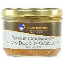 Terrine gourmande au vin doux  20% Foie gras (180g)